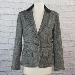 Fox Hunting Print Equestrian Tweed Blazer #629